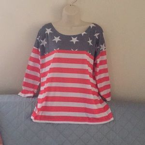Tops - Cute 🎈🎈🎈red/white/blue top